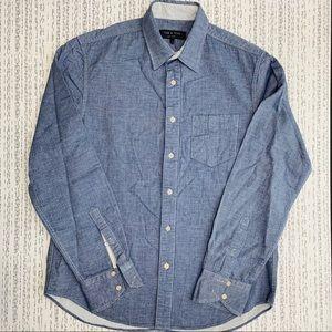 Rag & Bone Super Soft Blue Button Down Shirt